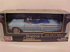1958 Chevy Impala Convertible Die-cast Car 1:24 Motormax 8 inch Baby Blue