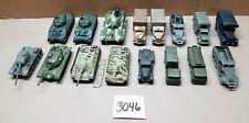 Lot Corgi Unmarked US German WWII Military Tanks Trucks Halftracks 1/72 Scale