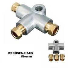 1x Set T Stück,Verbinder,Verteiler, 3-fach, M10 x 1, Bördel F, Bremsleitung 4,75