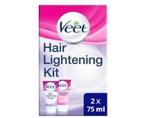 Veet Hair Lightening Cream for Face and Body 2 x 75 ml 5 min Hair Bleach UK