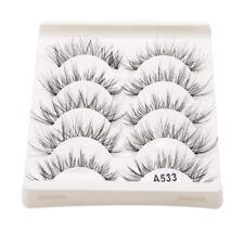 5Pairs Natural Fashion Eyelashes Eye Makeup Handmade Long False Lashes Sparse