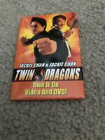 Button pin movie Promo Twin Dragons Jackie chan