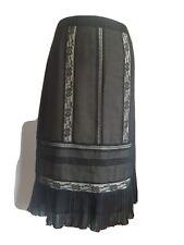 Black Next Gothic Evening Skirt Mid Length Black Lace Pencil size 12 boho