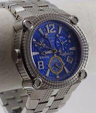 Renato Men's Vulcan Watch, ETA 251, Shock Blue Dial w/ Yellow on SS, Ltd. Prod.