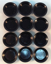 """Lot 12 Rubber Wheel Cylinder Cup / Plug 13/16"""""""
