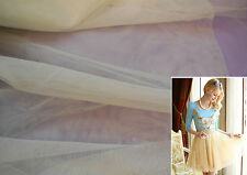 Ivory Champagne Soft Tulle Fabric for Dress Making DIY 160cm Wide. per 0.5m