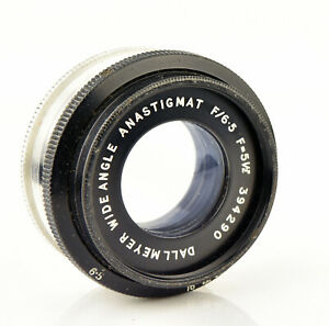 "Dallmeyer Wide Angle Anastigmat 5½"" f/6.5 Bellows Camera Brass Lens"