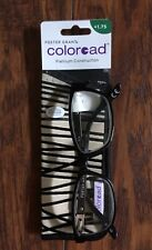Reading Glasses w/ Case - Foster Grant Coloread 1.75 with Crystal Vision