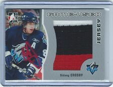 SIDNEY CROSBY AUTOGRAPH 2005-06 LEAF ITG SIGNED 3 COLOR AUTO PATCH SILVER #1/100