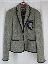 NWOT RUGBY RALPH LAUREN Wool Herringbone Gryphon Unicorn Crest Blazer Jacket 4