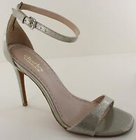 Charles David Radial Womens Silver Open Toe Stiletto Sandals Heels Size 9.5M NEW