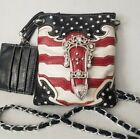 COWGIRL TRENDY Stars and Stripes Patriotic HIPSTER CROSS BODY MESSENGER BAG