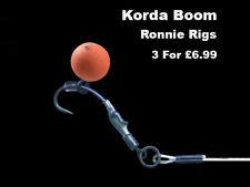 3 KORDA BOOM RONNIE RIGS (SPINNER RIG) Teflon hooks carp fishing tackle hair rig