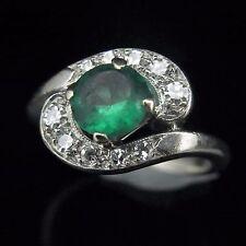 Vintage Diamond Ring14k White Gold Dinner Ring Retro Mid Century Estate Jewelry