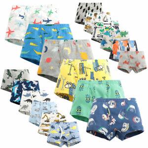 Pack of 3 6 Baby Kids Boys Cotton Boxer Brief Underwear Short Trunks Set 2T-10T