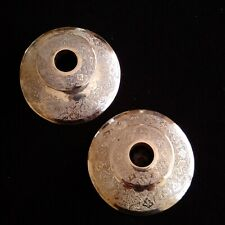 PERSIAN ART EXHIBITION PAIR OF SOLID SILVER CANDLE STICKS