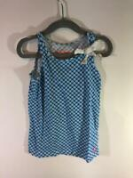 Crewcuts J. Crew Girls Blue White Geometric Sleeveless Tank Size 4/5 years