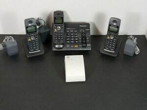 (3)Panasonic Handsets KX-TG6074B 5.8 Answering Machine, callerID, Jack Extension