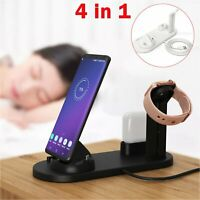 4in1 Multifunctional QI Wireless Charging Dock for Apple iWatch Airpods iPhone