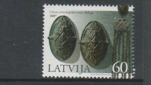 Latvia - 2007, Archaeology stamp - V/L/M - SG 710