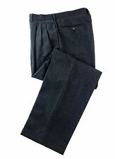 Gianfranco Ferre black wool men's dress pleated pants trousers made in Italy 36