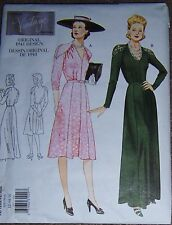 1941 Vtg Style DRESS pattern day evening gown 12-16 OOP