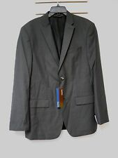 Perry Ellis New Mens Classic Fit The Artist Charcoal Pinstriped Blazer 42 Reg