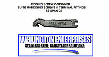 2pces x C-SPANNER FOR M5 RIGGING SCREW / M5 TERMINAL SPANNER SS WIRE BALUSTRADE