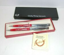 Vintage Borden Dairy Company Mechanical Pencil Ballpoint Pen Set Garland U.S.A.