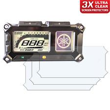 3 x YAMAHA FJ09 SUPER TENERE Dashboard Screen Protector: Ultra-Clear