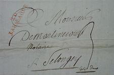 Lettre Labaraque 20 Côte d'Or 1820 Relais de Poste Gevrey Fixey