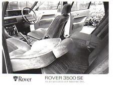 Rover 3500 se SD1 Interior Original fotografía blanco y negro de prensa Circa Sept. 1980