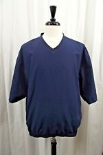 FootJoy Golf Pullover Shirt Jacket Mens Large Blue Coat Rain Short Sleeves
