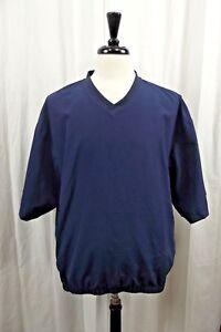 FootJoy Golf Pullover Shirt Jacket Mens L Large Blue Coat Rain Short Sleeves