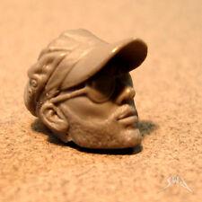 """MH053 Custom Cast Male head for use with 3.75"""" GI Joe Star Wars Marvel figures"""