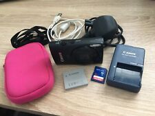 Canon Ixus 230HS 12.1MP Black Digital Camera with 8GB SD card and case