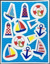 Vintage Stickers - Hallmark - Nautical - Sail Boats - Mint Condition!!