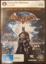 BATMAN ARKHAM ASYLUM GAME OF THE YEAR EDITION PC GAME DVDROM DVD-ROM RARE