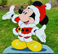 Mickey Mouse Santa Clause lawn stake yard decoration yard art Christmas garden