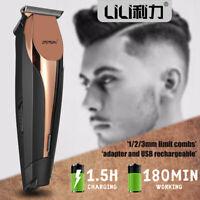 Haarschneidemaschine Haarschneider Rasierer Trimmer FastCharge USB Kabel 1/2/3mm