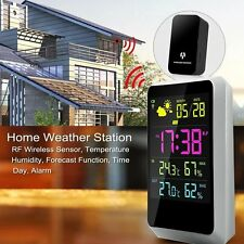 Wireless Weather Time Digital Station with Indoor/Outdoor Temperature LED Screen