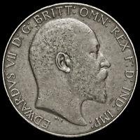 1910 Edward VII Silver Florin, AVF