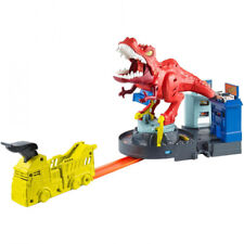Hot Wheels T-Rex Rampage Track Works City Sets Track Playset