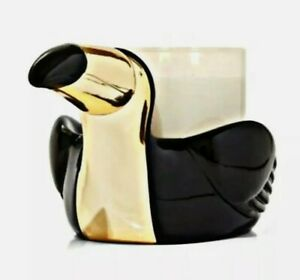 ~NEW~ Bath & Body Works Modern Toucan 3 Wick Candle Holder