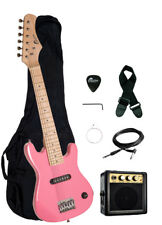 "Raptor 30"" Kids 1/2 Size PINK Electric Guitar Combo + Amp Bag Strap Pick"