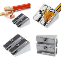 1Pc Double Hole Metal Sharpener Pencil Writing Stationery School Office Tool