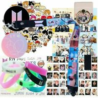 KPOP BTS Gift Bundle Bracelet Lanyard Keychain Phone Ring Stickers Cards & More!