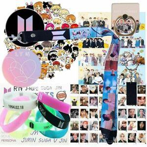 KPOP BTS Gift Bundle Bracelet Lanyard Keychain Phone Ring Stickers Cards & More!