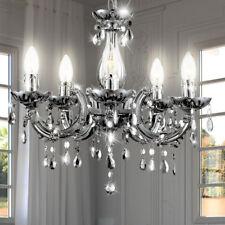 Kronleuchter Pendel Lampe Deckenleuchte Esszimmer Leuchte silber Lüster Licht