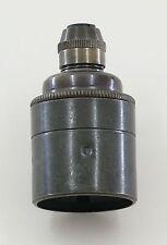 Vintage bronze lampholder cord grip suitable for pendant braided cable ES E27
